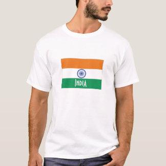 Camiseta Tshirt da lembrança da bandeira de India