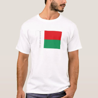 Camiseta Tshirt da lembrança da bandeira de Madagascar