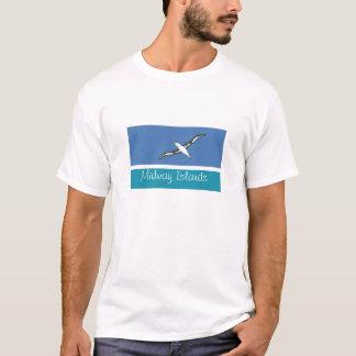 Camiseta Tshirt da lembrança da bandeira de Midway Islands