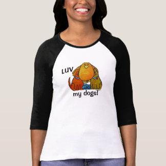 Camiseta Tshirt da luva do Raglan 3/4 de LimbBirds