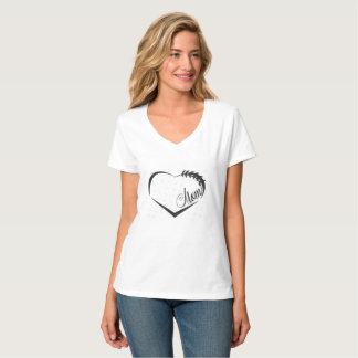 Camiseta tshirt da mamã do futebol