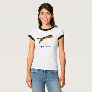 Camiseta Tshirt da mamã do tigre - tigre moderno do pulo