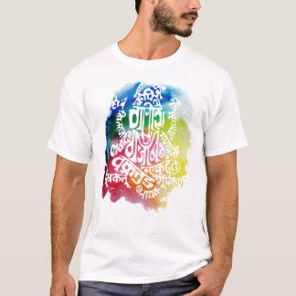 Camiseta Tshirt da mantra de Ganesh