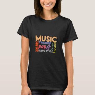 Camiseta Tshirt da música todos os tipos de gênero da