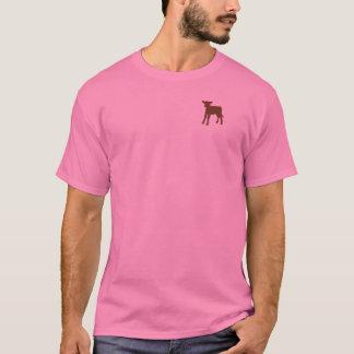 Camiseta Tshirt da vitela do Brown das mulheres