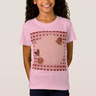 Camiseta Tshirt das meninas com biscoitos