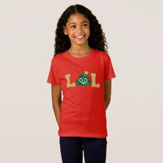Camiseta Tshirt das meninas de Emoji do tombadilho da