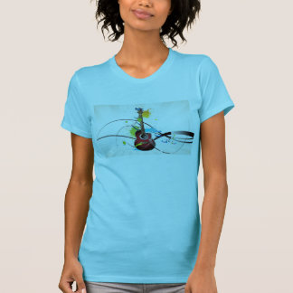 Camiseta Tshirt das mulheres da guitarra