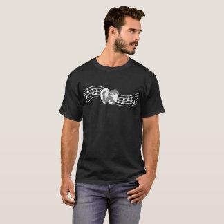 Camiseta Tshirt das pulsação do coração do ritmo do amor do