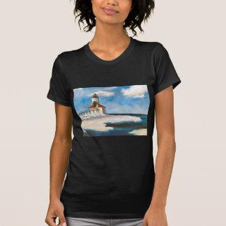 Camiseta Tshirt das senhoras da luz da cidade de Michigan