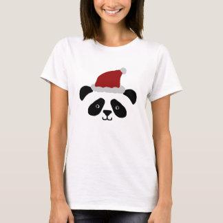 Camiseta Tshirt das senhoras da panda do papai noel
