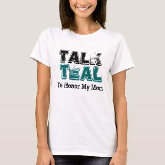 Camiseta TShirt das senhoras do câncer de ovário da cerceta