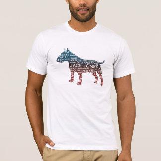 Camiseta TShirt de bull terrier do calão do Cockney
