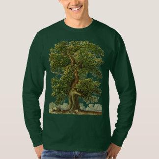 Camiseta Tshirt de jardinagem do carvalho velho do vintage