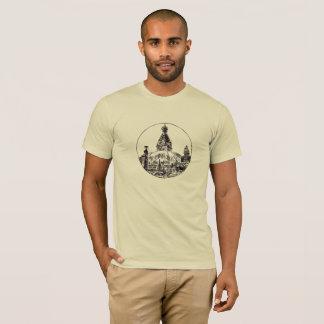 Camiseta tshirt de nepal do templo do swayambhu
