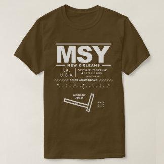 Camiseta TShirt do aeroporto MSY de Louis Armstrong Nova