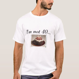 Camiseta Tshirt do aniversário de 40 anos