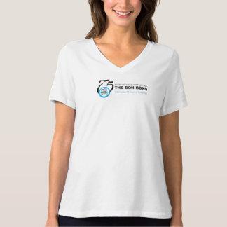 Camiseta Tshirt do aniversário do bombom 75th - branco com