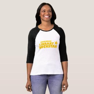 Camiseta Tshirt do basebol das mulheres de Rockstar da