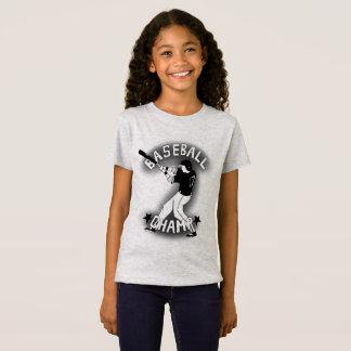 Camiseta Tshirt do basebol para meninas