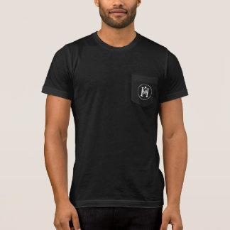 Camiseta Tshirt do bolso dos homens do Co. da vela do monte