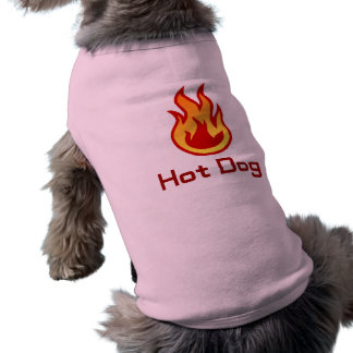 """Camiseta Tshirt do cão do """"cachorro quente"""""""
