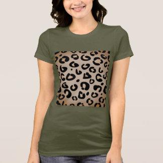 Camiseta Tshirt do caqui da selva com teste padrão de