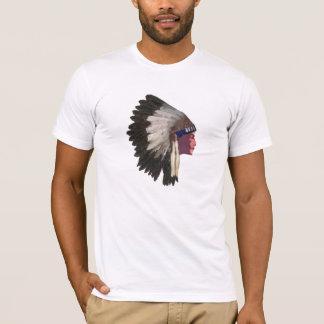 Camiseta Tshirt do chefe indiano do nativo americano