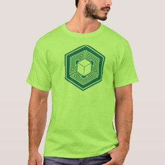 Camiseta Tshirt do cubo do círculo da colheita