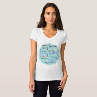 Camiseta Tshirt do desordem da palavra do Mindfulness