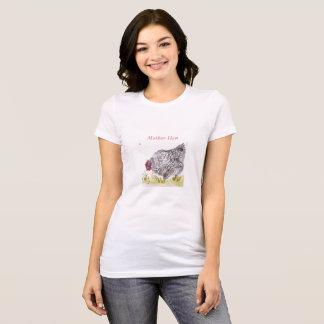 Camiseta Tshirt do dia das mães da galinha da mãe