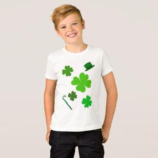 Camiseta Tshirt do dia de Patrick de santo para meninos