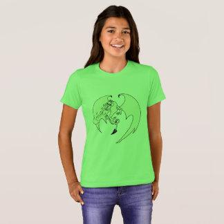 Camiseta Tshirt do dragão das meninas