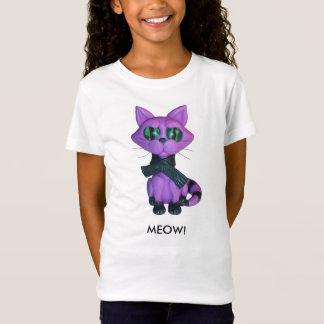 Camiseta Tshirt do gatinho das meninas