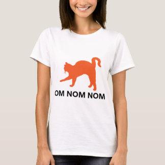 Camiseta tshirt do gato do nom do nom do OM