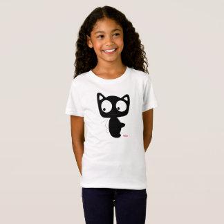 Camiseta TShirt do gato dos miúdos das meninas de Oscar,
