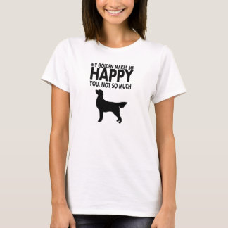 Camiseta Tshirt do golden retriever