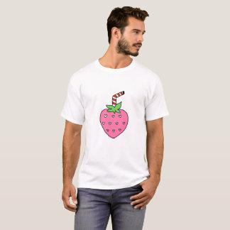 Camiseta TSHIRT do leite da morango, TSHIRT bonito, hipster