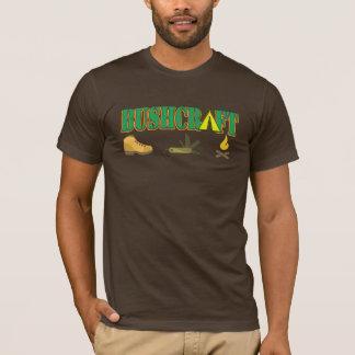 Camiseta tshirt do logotipo do bushcraft