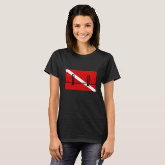 Camiseta Tshirt do logotipo do grupo do mergulho autónomo