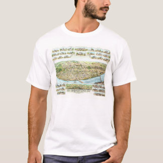 Camiseta TShirt do mapa de Bradford Massachusetts