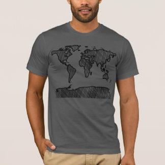 Camiseta Tshirt do mapa do mundo
