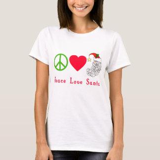 Camiseta Tshirt do Natal de Papai Noel do amor da paz