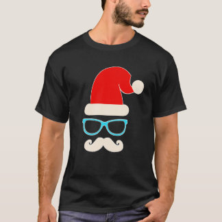 Camiseta tshirt do Natal do pai do papai noel do hipster