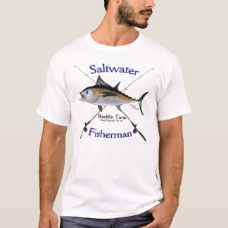 Camiseta Tshirt do pescador da água salgada do atum de