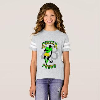Camiseta Tshirt do poder do futebol para meninas