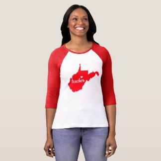 Camiseta Tshirt do professor de West Virginia (vermelho)