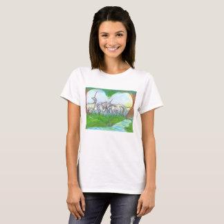 Camiseta Tshirt do rebanho do amor do unicórnio