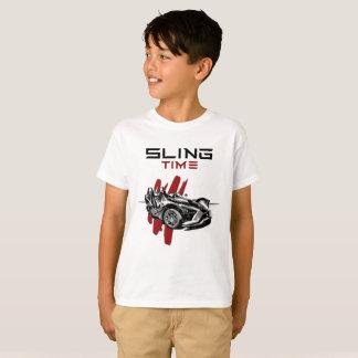 Camiseta Tshirt do tempo do estilingue dos meninos