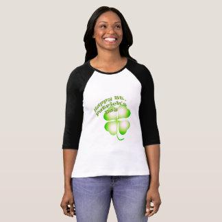 Camiseta Tshirt do trevo da folha do Dia de São Patrício